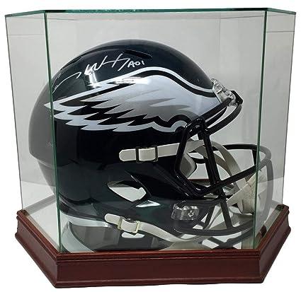 49706c9ada8 Carson Wentz Autographed Signed Eagles Replica Sb 52 Helmet Fanatics Glass  Display Case - Certified Authentic