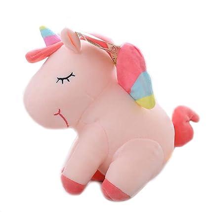 Amazon Com Plush Unicorn Stuffed Animal Sleeping Dolls With Rainbow