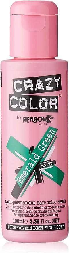 Crazy Color Emerald Green Nº 53 Crema Colorante del Cabello Semi-permanente