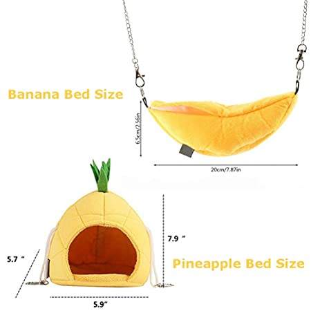 Cages Fast Deliver Winter Warm Hamster Hanging House Banana Design Hammock Hanging Cage House Pet Rat Birds Small Animals Swing Sleeping Nest Bed Elegant In Smell