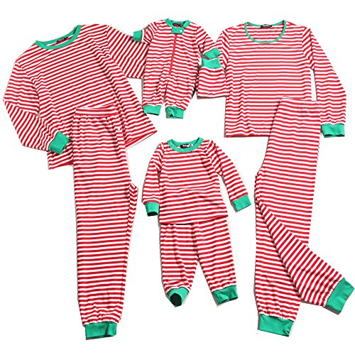 PopReal Contrast Striped Family Matching Clothes Long Sleeve and Pants Pajamas Set