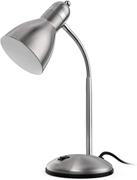 Amazon Com Lepower Metal Desk Lamp Adjustable Goose Neck Table Lamp Eye Caring Study Desk Lamps For Bedroom Study Room And Office Silver Home Improvement