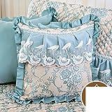 DXG&FX european-style sofa cushions back cushion bedside cushion waist cushion pillow cushions-C 45x45cm(18x18inch)