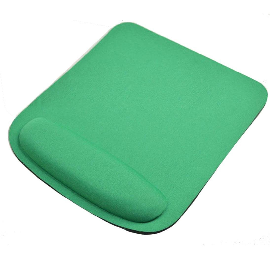 Coohole Gel Wrist Rest Support Game Mouse Mat Anti-slip Pad for Computer PC Laptop (Green 1, A)