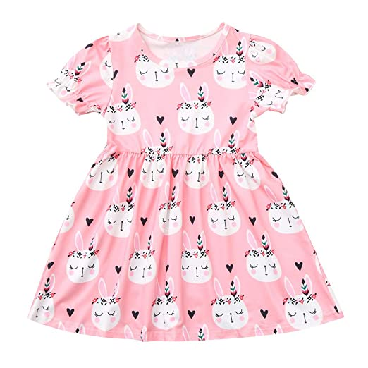 13fbd09cfc6e6 Amazon.com: Tronet Toddler Kids Baby Girl Summer Easter Bunny ...