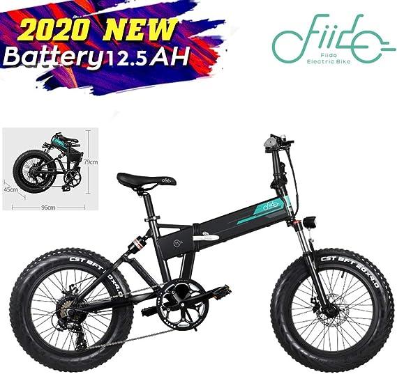 FIIDO M1 Bicicleta de montaña eléctrica Plegable Ruedas de 20 ...