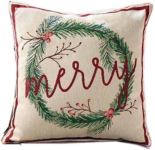 Mud Pie Acorn Wreath Pillow