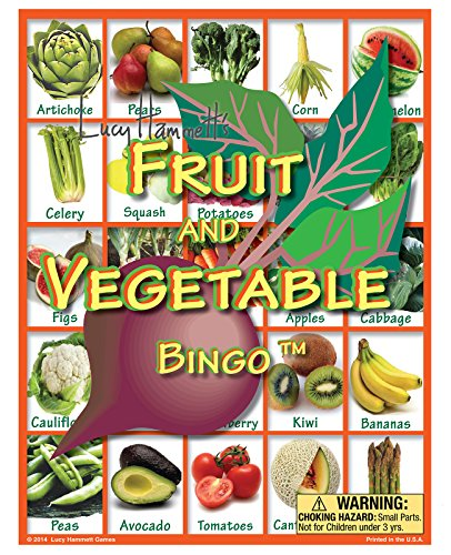 Lucy Hammett Games Fruit and Vegetable Bingo Game