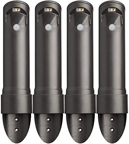 Mr. Beams MB564 Wireless Motion Sensor Activated Compact Led Path Light, 4-Pack, Black Brown Renewed
