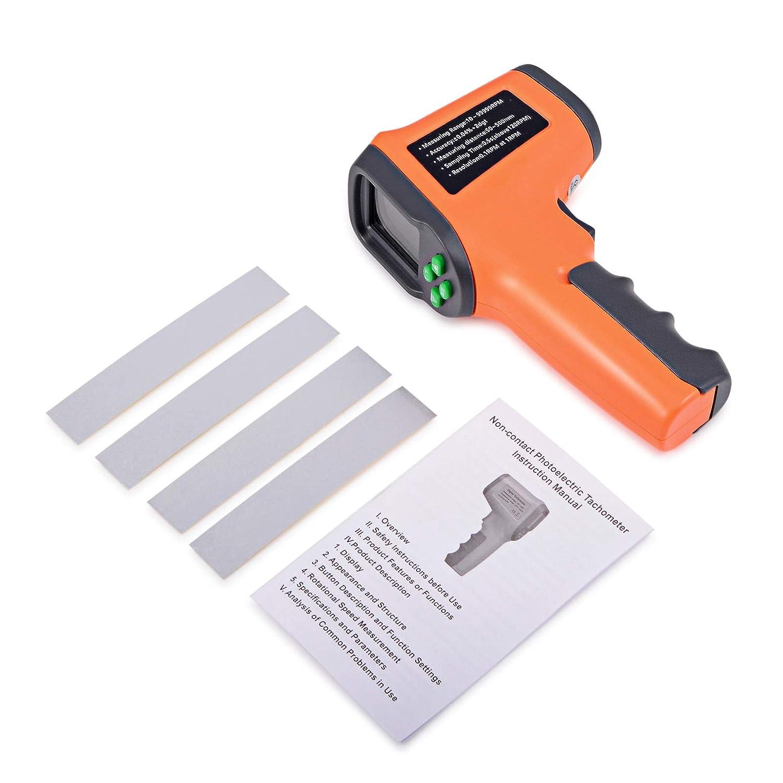Ehdis Digital LCD láser foto tacómetro sin contacto RPM metro Velocidad del motor Velocidad Tipo de pistola Estilo de superficie Velocidad Tachímetro ...