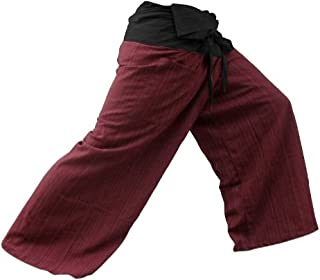 2 tono pescatore tailandese pantaloni Yoga pantaloni cotone dimensioni gratis Top quality authentic 100% Cotton Drill Gangaeng Chaolay Thai Fisherman pants for men and women! Super-comfortable and versatile- wear them for any occasion!
