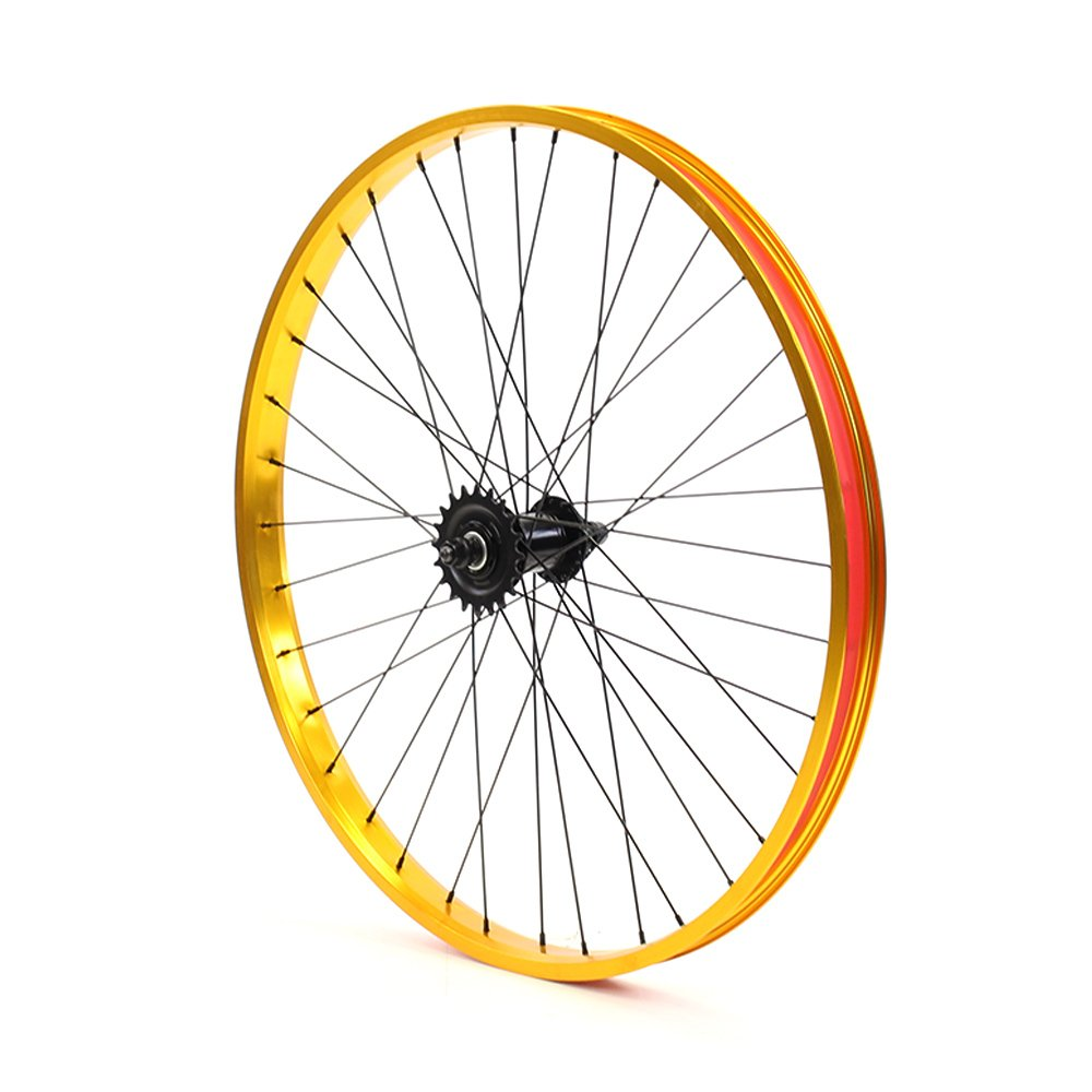 Set of Bicycle Rims (26x32mm; Front & Rear; Anodized Gold) by ZycleFix (Image #5)