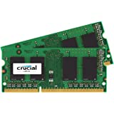 Crucial CT2K102464BF186D Mémoire de 16GB Kit (8GBx2) DDR3 1866 MT/s  (PC3-14900) SODIMM 204-Pin