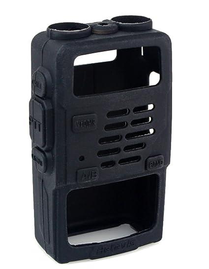 Retevis 2 Way Radio Case Holster Protection Rubber Soft Case for Baofeng  BF-UV5R UV-5RV UV-5RE UV-985 Retevis RT-a5R RT-5RV WalkIe Talkies (1 Pack)
