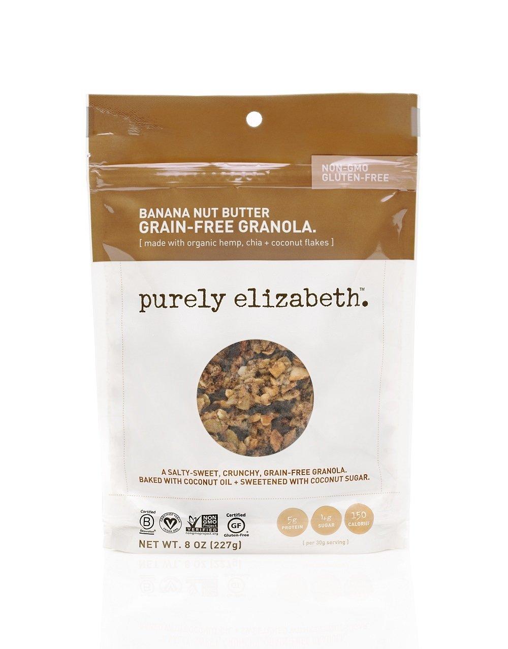 purely elizabeth Grain Free & Gluten Free Granola, Banana Nut Butter, 3 Count