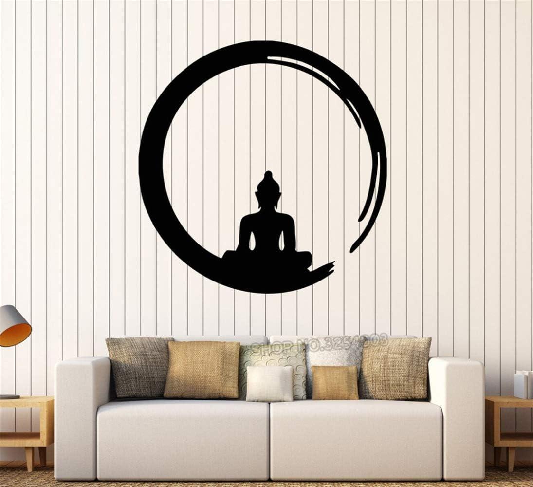 Pegatinas De Pared Buda Budismo Meditación Círculo Enso Zen ...