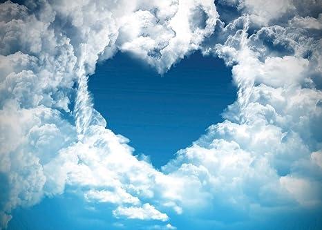 Lywygg 7x5ft Sullo Sfondo Di San Valentino Cielo Blu E Nuvole