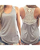 Mosunx(TM) Sexy Women Lace Vest Top Sleeveless Blouse Fashion Tank Tops T-Shirt