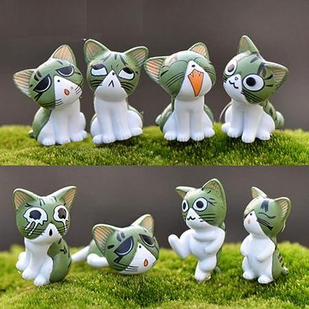 ESDdwe1dd23linyiming13dfDC 8 Piezas de Figuras de Hadas en Miniatura Miniaturas de jardín de Hadas Terrario de Gato Figuras de Gato de Queso Decoración de jardín en Miniatura, 3: Amazon.es: Hogar