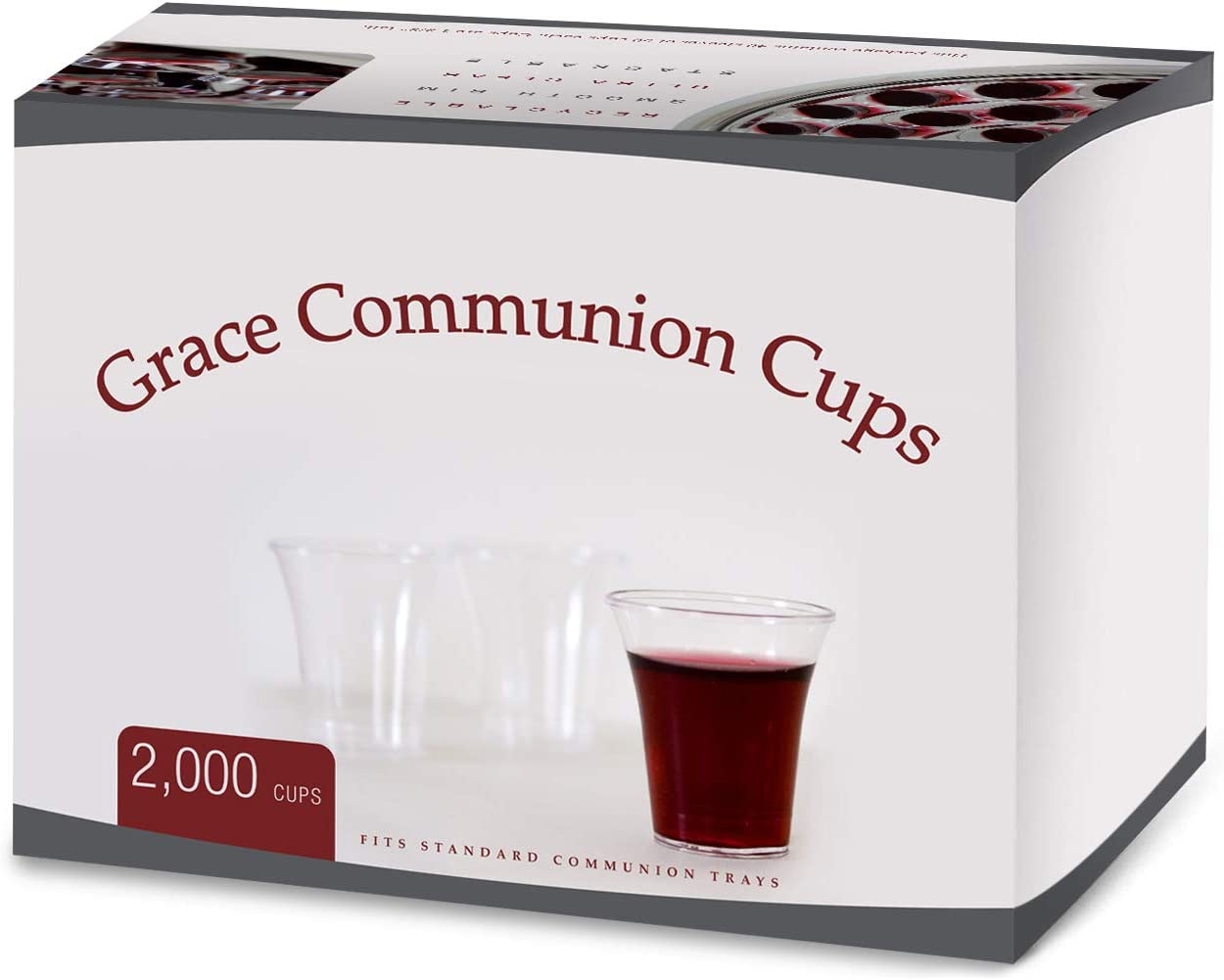 Communion Cups - Disposable Plastic 2000 per box - Fits Standard Holy Communion Trays