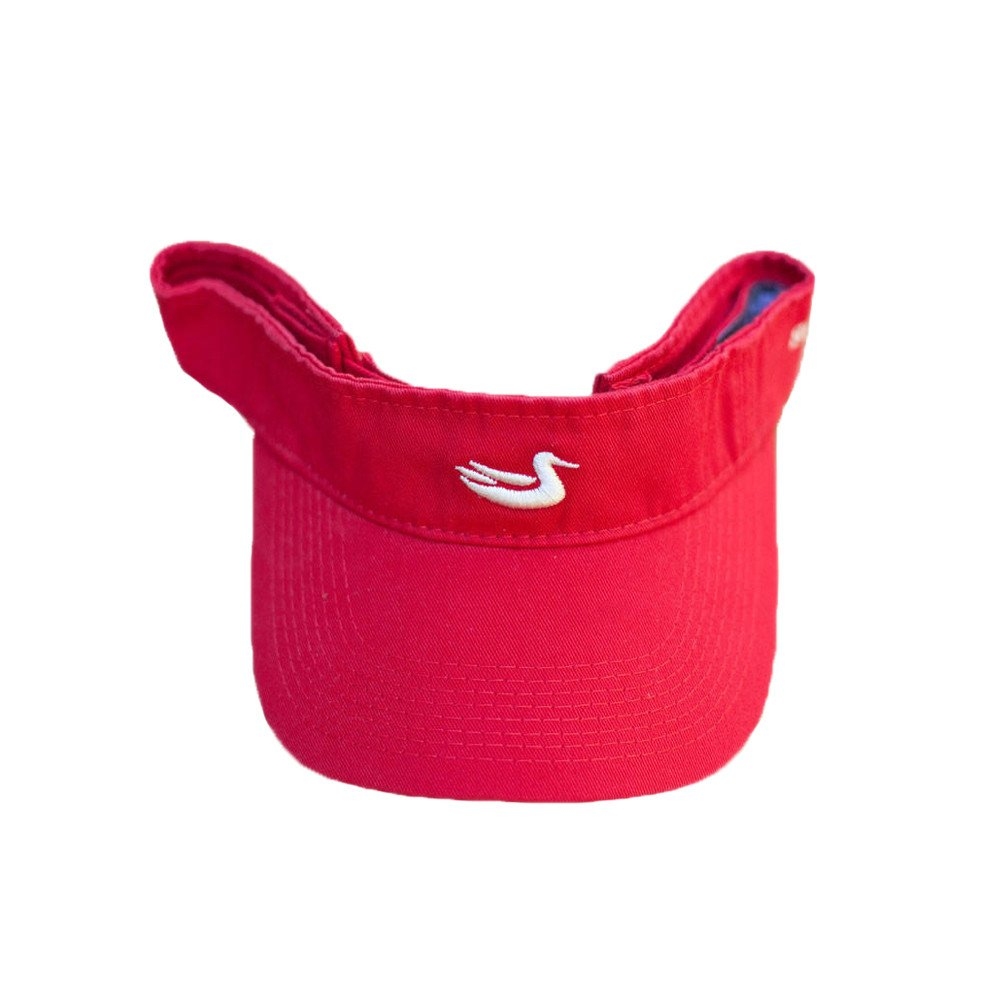 Southern Marsh Signature Visor in Red and White