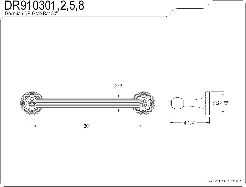 Polished Brass Kingston Brass K183A2 Designer Trimscape Showerscape 30-Inch Brass Shower Slide Bar