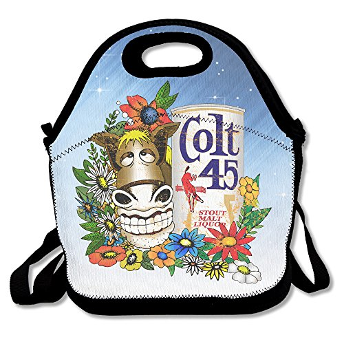 colt-45-gold-donkey-lunch-bag-lunch-tote-waterproof-outdoor-travel-picnic-lunch-box-bag-tote-with-zi