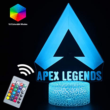 Amazon.com: Lámpara LED de noche con iluminación óptica 3D ...