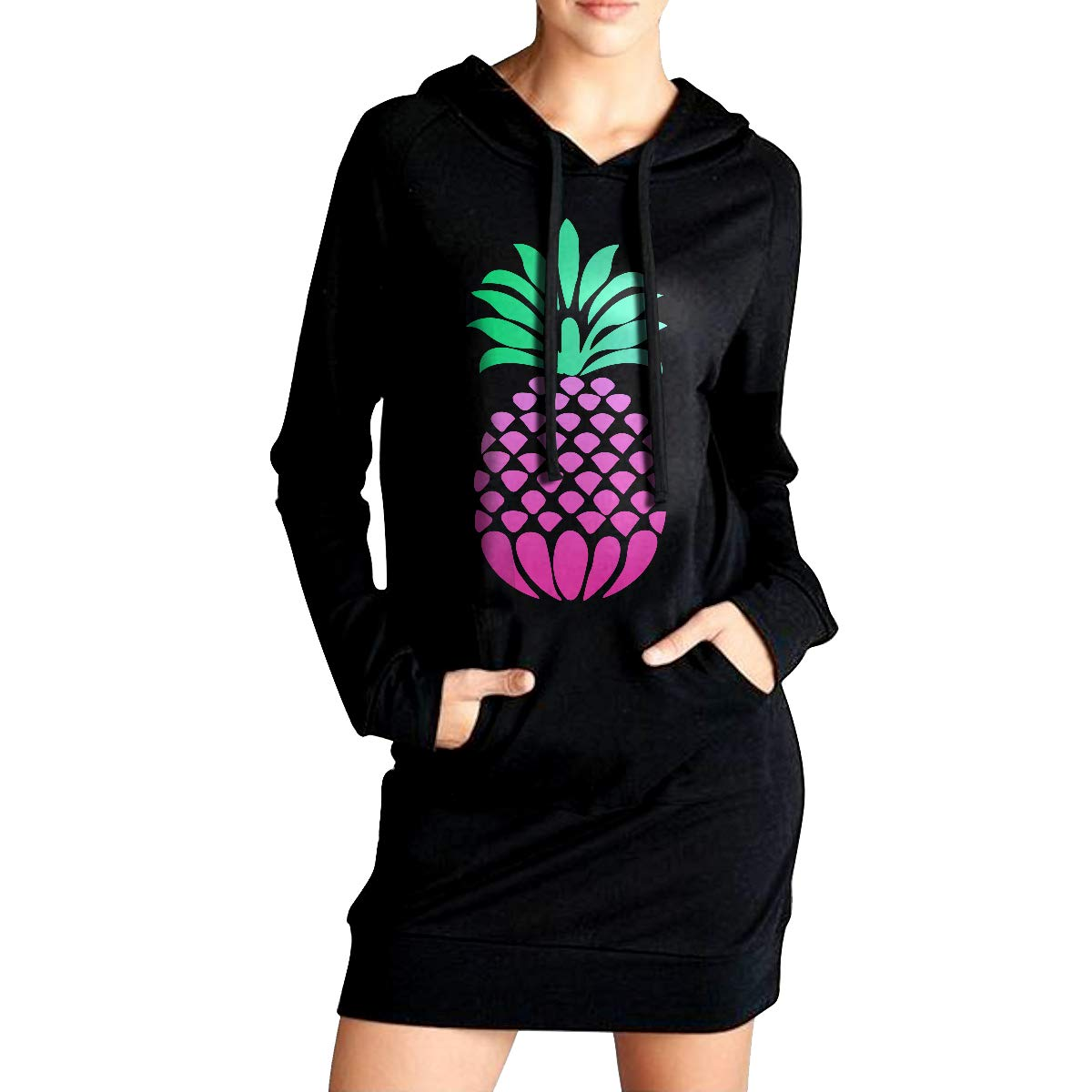 TDYUS DesignName Womens Classic Black Hoodies With Pocket