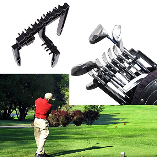 Portable Golf Bag 9 Iron Club Holder Stacker Rack Organizer Accessories Black
