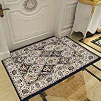 Aik@@ Easy clean Rug,Non-slip Absorbent Area rug Durable Small mat Rectangle Modern Polyester Carpet-D 100x140cm(39x55inch)