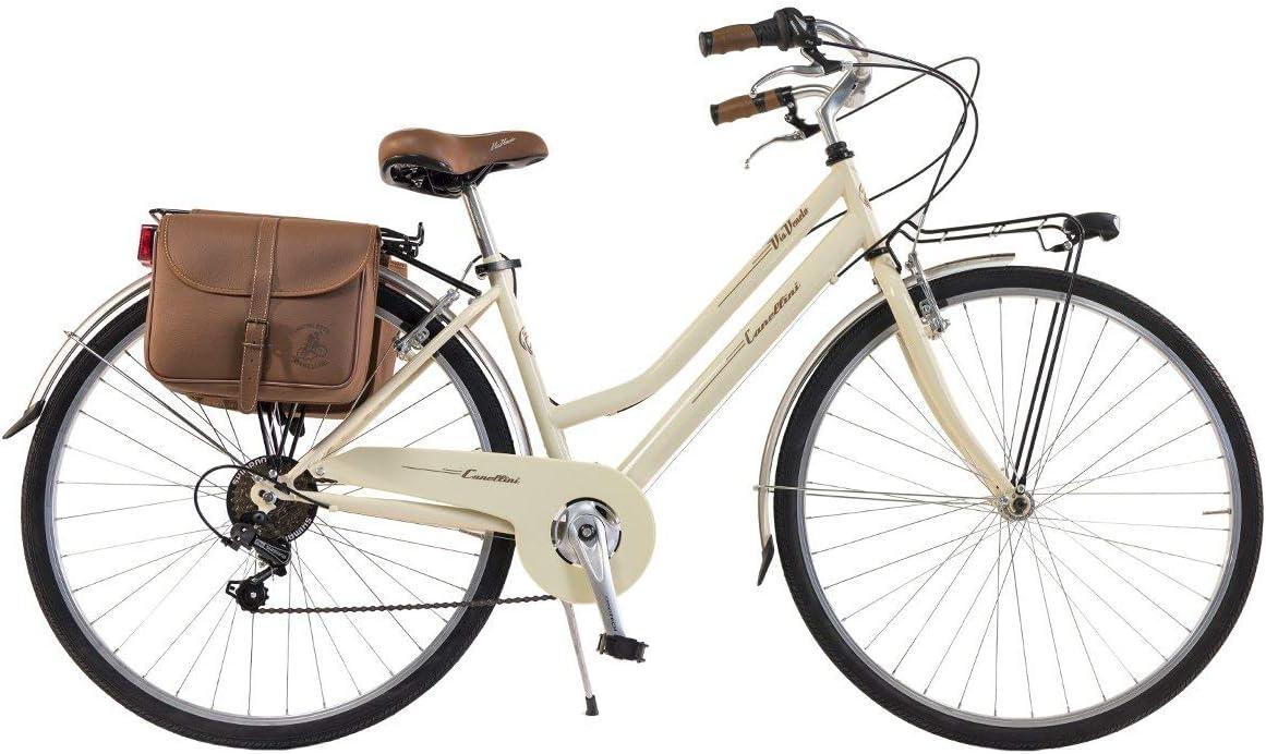 Via Veneto By Canellini Bicicleta Bici Citybike Ctb Mujer Vintage Retro Via Veneto Acero (Nata, 46): Amazon.es: Deportes y aire libre