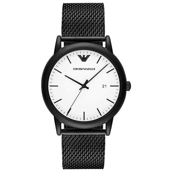 Emporio Armani Reloj Analógico para Hombre de Cuarzo con Correa en Acero Inoxidable AR11046: Amazon.es: Relojes