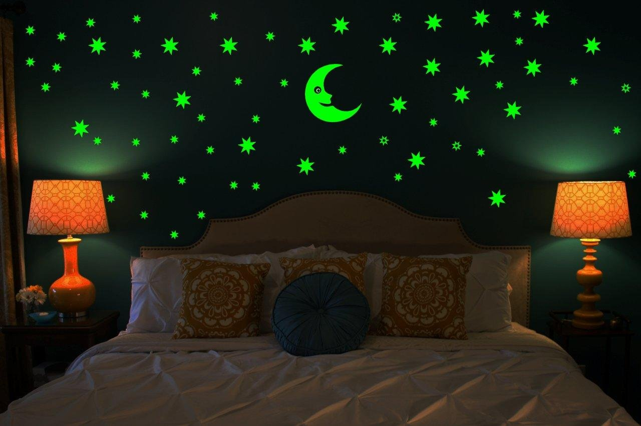 Buy wall whispers sticker moon and 69 star glow in the dark buy wall whispers sticker moon and 69 star glow in the dark glowing sticker high quality online at low prices in india amazon mozeypictures Gallery