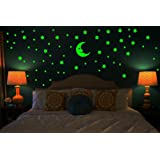 Wall Whispers Sticker Moon and 69 Star Glow in the Dark Glowing Sticker High Quality