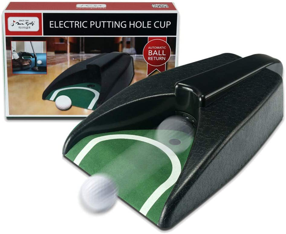 Golf Automatic Putting Cup,Golf Ball Putting Return Indoor Golf Simulator,Golf Putting System Perfect for Indoor Golf Practice