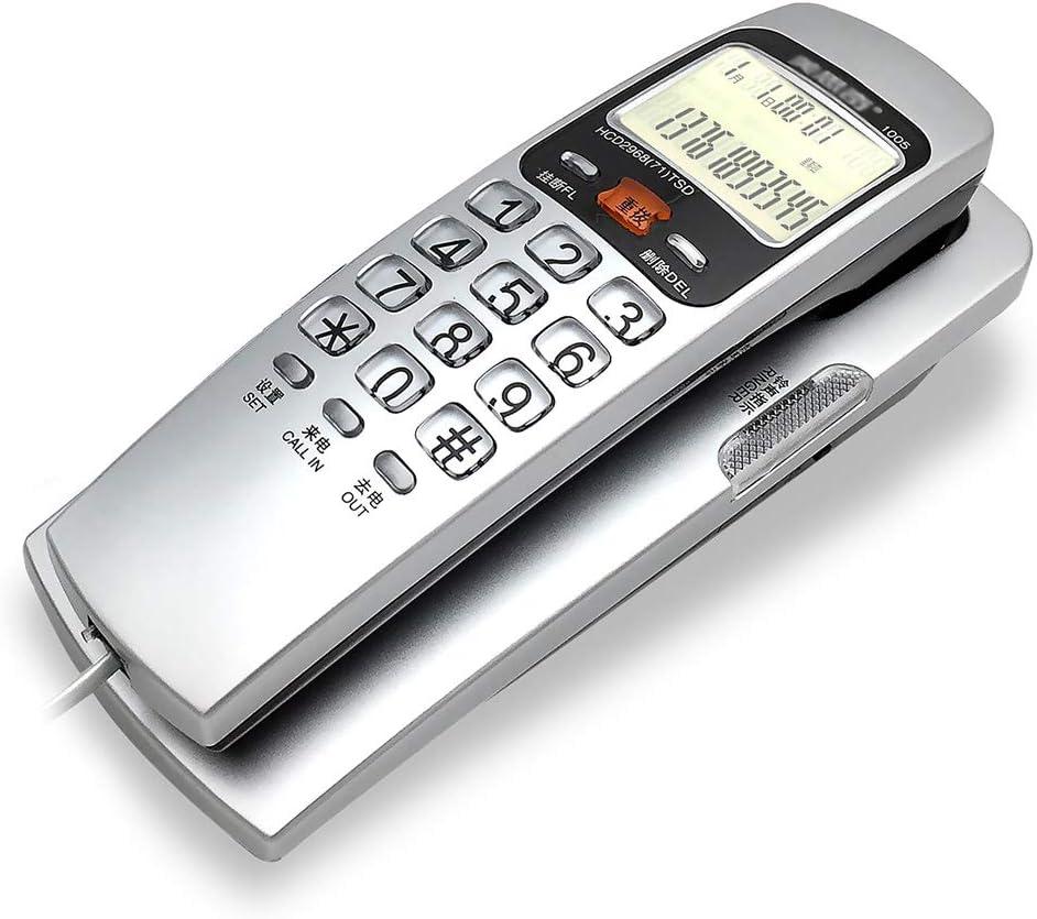 YHZMT Teléfono con Cable Montado En Pared, con Identificador De Llamadas/Teclas Grande para Teléfonos para Personas Mayores, Pequeña Casa/Hotel/Oficina Teléfonos Fijos: Amazon.es: Hogar