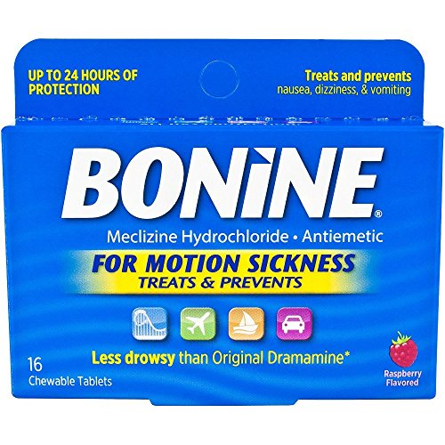 Bonine Motion Sickness Tablets Raspberry 16 Ct   Pack Of 2