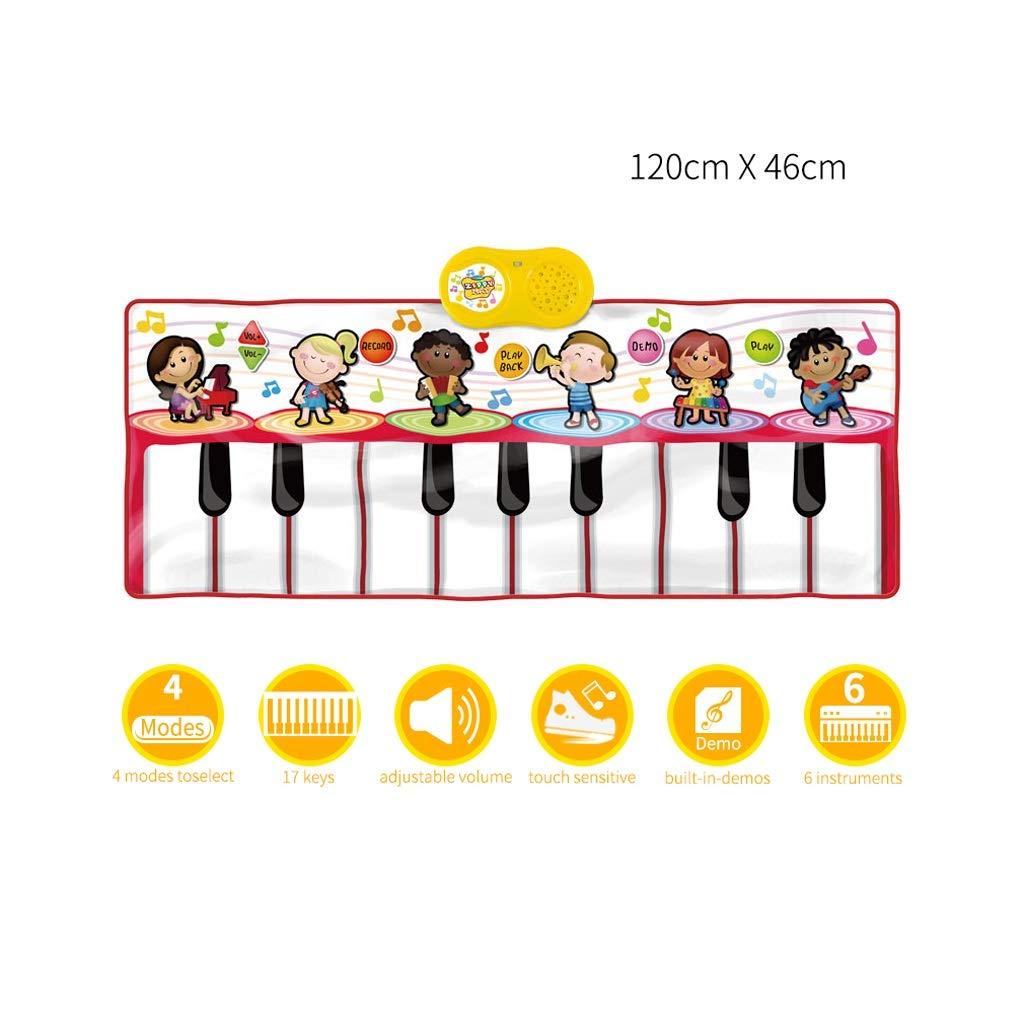 HXGL-Keyboard Children's Keyboard Playmat Piano Play Mat Kids Electronic Music Playmat Colorful Dance Mat-17 Keys (Color : Red) by HXGL-Keyboard (Image #4)