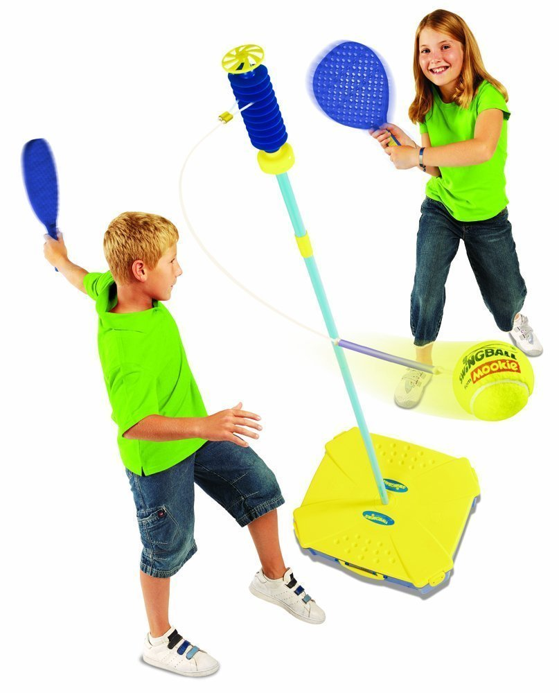 All Surface Swingball with Tether - Portable Tetherball Set by Squirrel Products