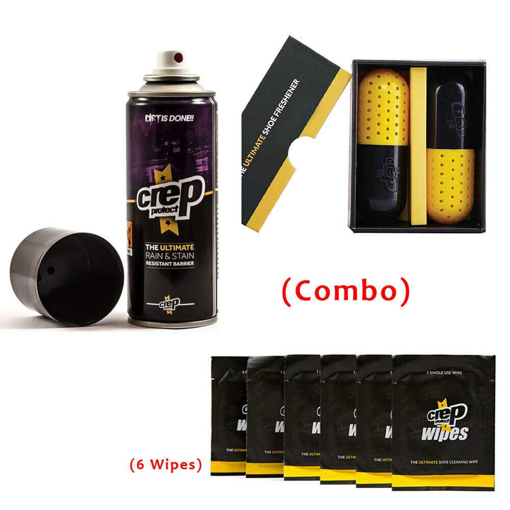 Crep Protect Ultimate Rain'' Stain, Crep Pill and 6 Wipes (Combo) Sneaker Kicks + CR73269 by quickly store
