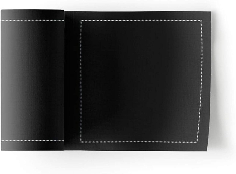 Cotton Cocktail Napkin - 4.3 x 4.3 in - 50 units per roll - Black