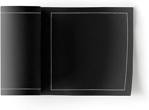 MYdrap Servilletas de cóctel, Algodón, color Negro, tamaño 11x11 ...