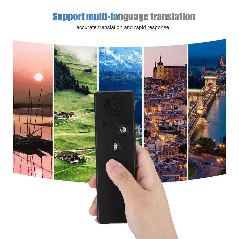 Portable Intelligent Real-time Voice Translator Multi Language Translation Device with APP Pocket Interpreter for Business Travel Shopping English Chinese French Spanish Japanese Arabic - Black by ASHATA (Image #4)