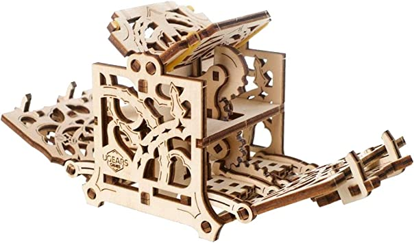 UGEARS Modelo Mecánico Puzzle 3D - Caja para Dados - Caja de Madera Estuche Funda de Transporte para 8 Dados - Maquetas para Construir Adultos para Juegos de Mesa Rompecabezas Adultos: Amazon.es:
