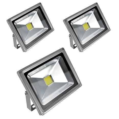 PrimLight 3 pcs 20W Impermeable Blanco Cálido Luz Foco LED ...