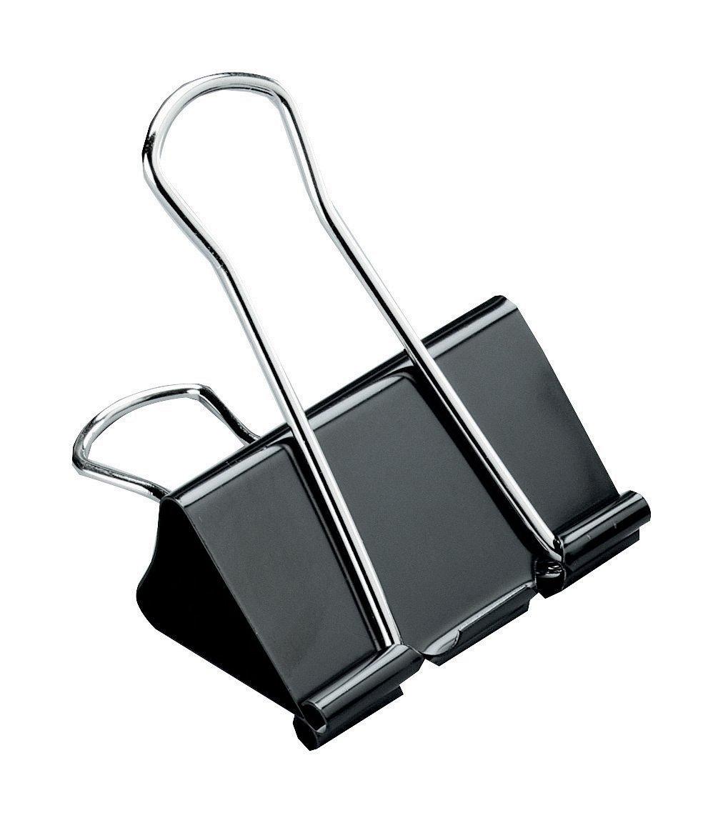 per Ufficio Organizzare 24 x 19 mm - Nero Clip Doppio Clip Multiuso in Metallo Foldback Clip Morsetti Clip di Carta Clip Cravatta Ufficio di Cancelleria Pinze