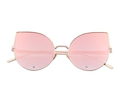 44211734e1 MERRY S Women Rose Gold Cat Eye Sunglasses Pink Mirorred Lens S8026 (Pink)   Amazon.ca  Luggage   Bags