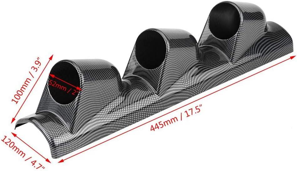 Carbon Fiber Universal Heavy Duty Racing Sport Meter Gauge Pillar Mount Pod Holder Bracket Gauge Holder triple hole Acouto Gauge Mount Pod