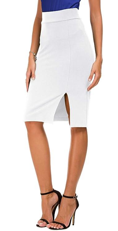 Jupe blanche sexy et élégante pas cher